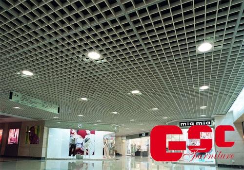Trần nhôm tiêu âm Caro Grid Ceiling